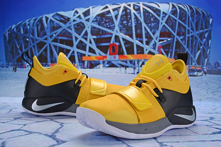 New Men Nike PG 2.5 Yellow Black Grey Shoes