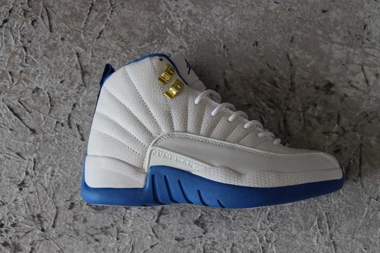 New Women Air Jordan 12 Retro French Blue