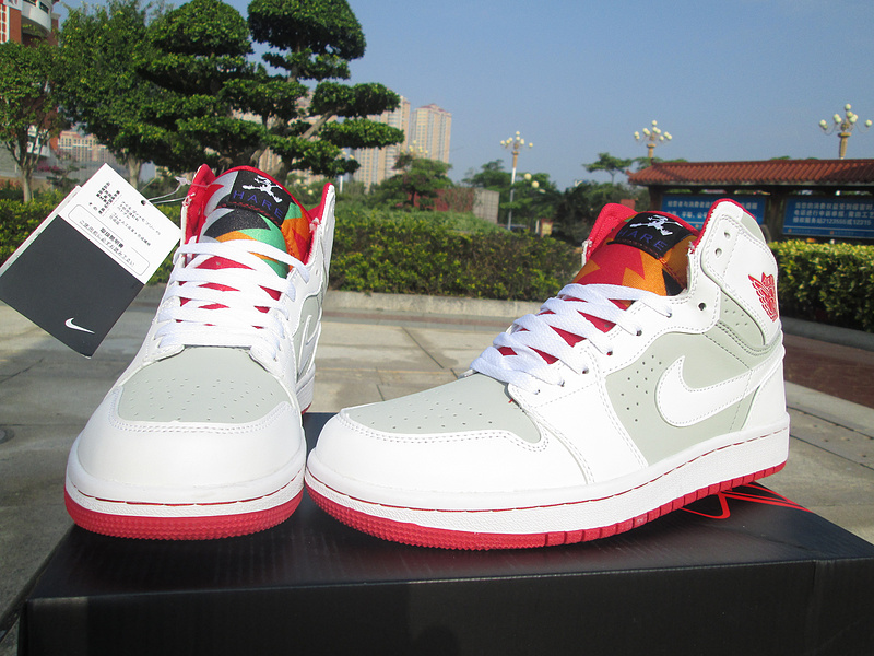df5a98444fa5cd New Air Jordan 1 Retro Bugs Bunny White Grey Red Shoes For Women ...