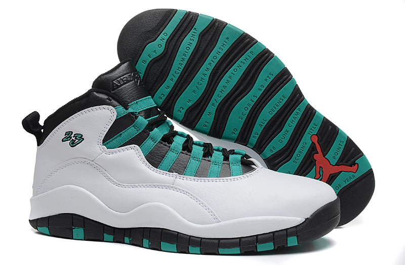 2015 New Arrival Air Jordan 10 Retro White Green