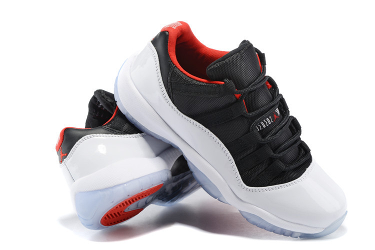 1772715e4e10 New Air Jordan 11 Low White Black Red Lover Shoes  WOMEN1541 ...