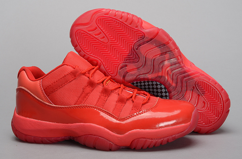 New Air Jordan 11 Retro All Red Shoes