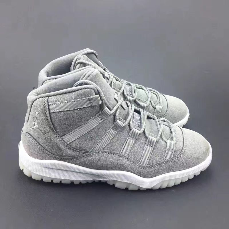 e12be2494f8053 New Air Jordan 11 Suede Grey For Kids