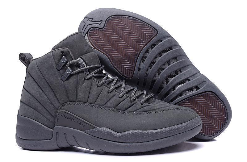 New Air Jordan 12 PSNY Wolf Grey Shoes