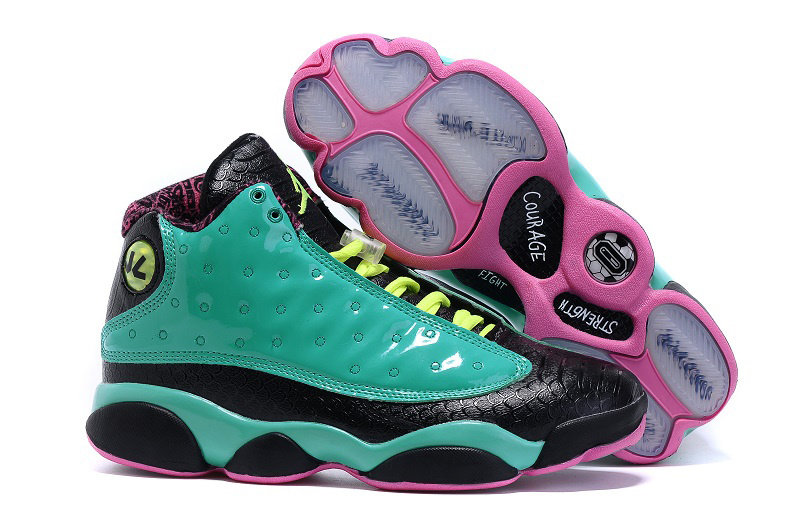 New Air Jordan 13 Doernbecher Green Black Pink Shoes