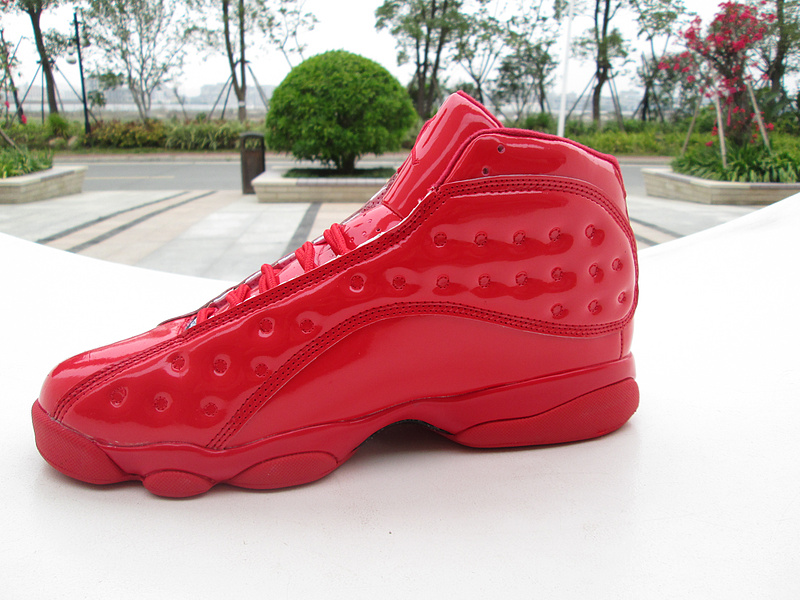 New Air Jordan 13 GS All Red Shoes