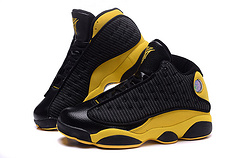 New Air Jordan 13 Neggets Carmelo Anthony Black Yellow Shoes