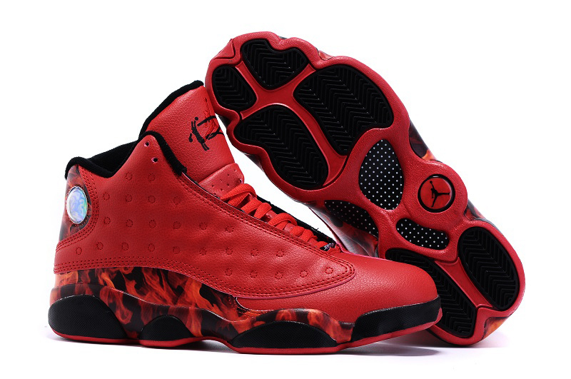 New Air Jordan 13 Ray Allen Heat Red Black Shoes