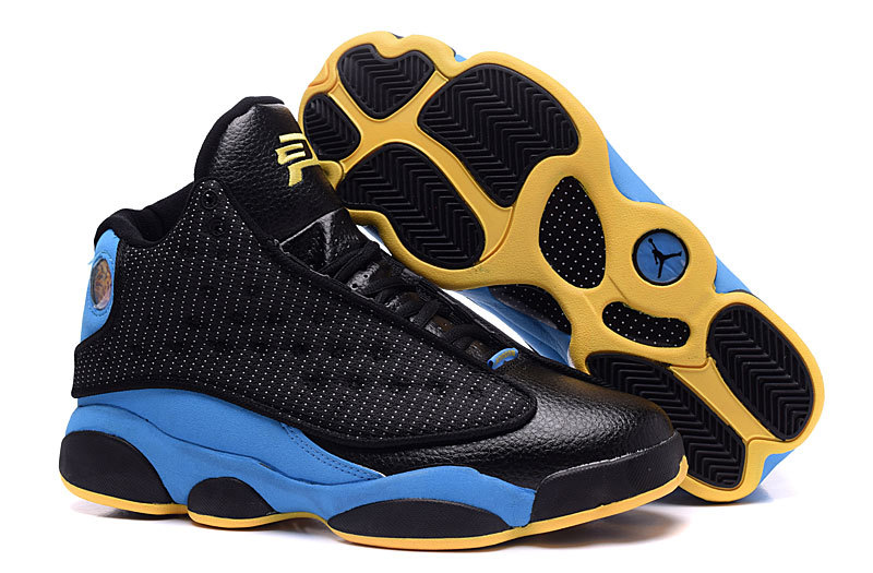 New Air Jordan 13 Retro CP3 Hornets Black Blue Yellow Shoes