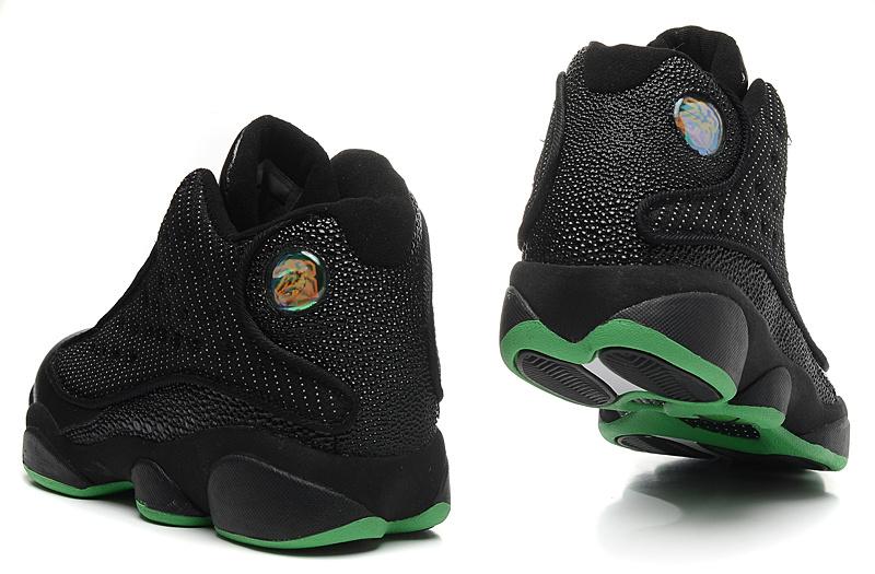 New Air Jordan 13 Retro Mesh Vamp Black Green Sole Shoes
