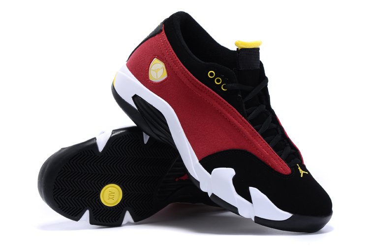 New Air Jordan 14 Low Black Red White Yellow Shoes