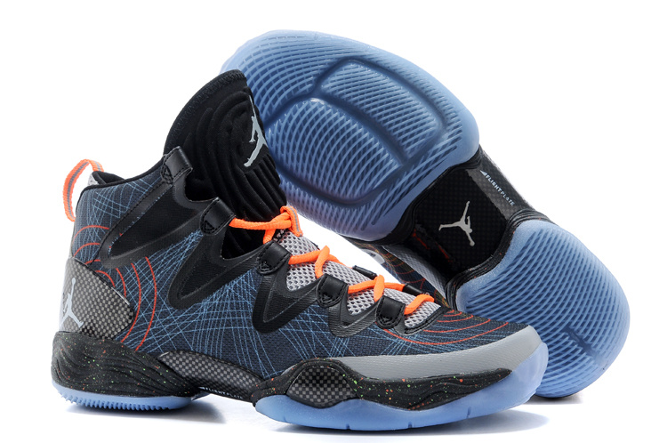 New Air Jordan 28 SE Black Blue Orange Shoes