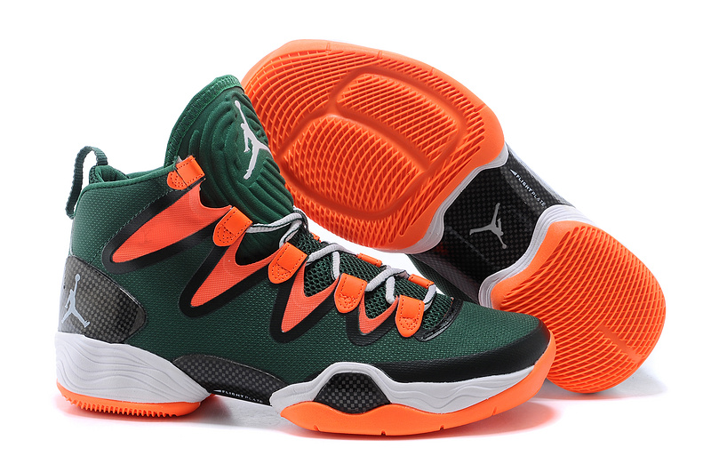 New Air Jordan 28 SE Green Orange White Shoes