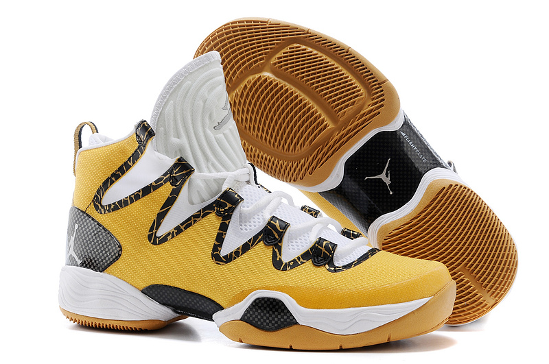 New Air Jordan 28 SE Yellow White Black Shoes