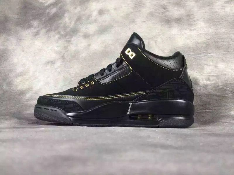 New Air Jordan 3 BHM Martine Luther King Black Yellow Shoes