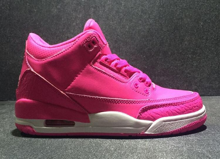 New Air Jordan 3 GS Hot Pink