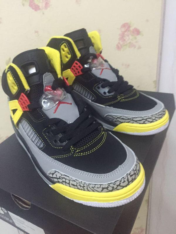 a08f8f99cdaef2 New Air Jordan 3.5 Black Grey Yellow Shoes  WOMEN1809  -  92.00 ...