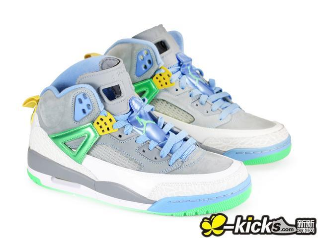 New Air Jordan 3.5 Grey Baby Blue Green Shoes
