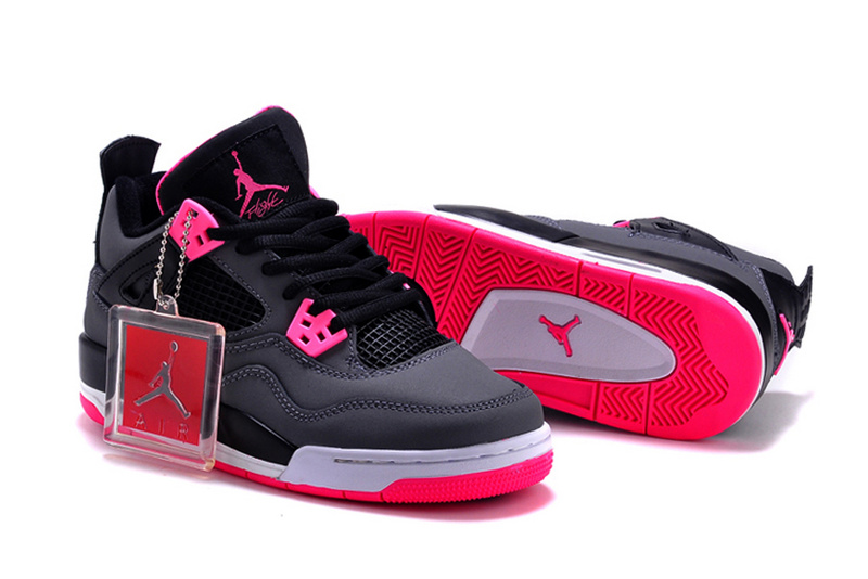 4776c40ac8e New Women Air Jordan 4 GS Hyper Pink Black Grey  WOMEN180  -  87.00 ...