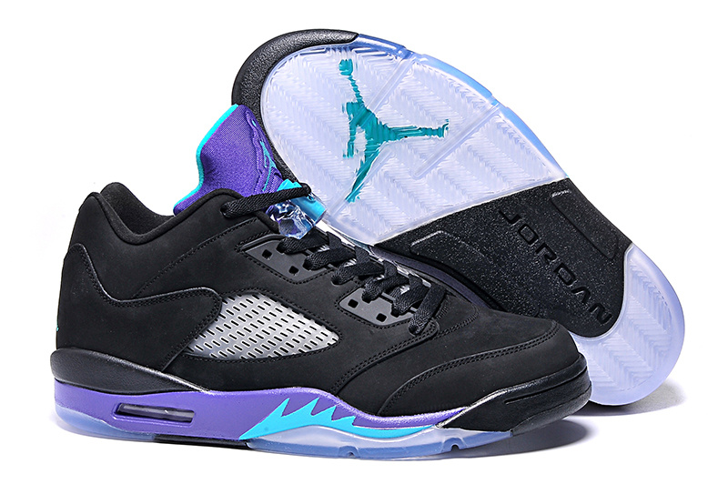 New Air Jordan 5 Low Black Grape Purple Shoes