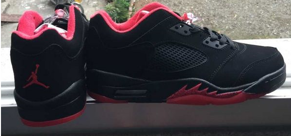 New Air Jordan 5 Low Black Red Shoes