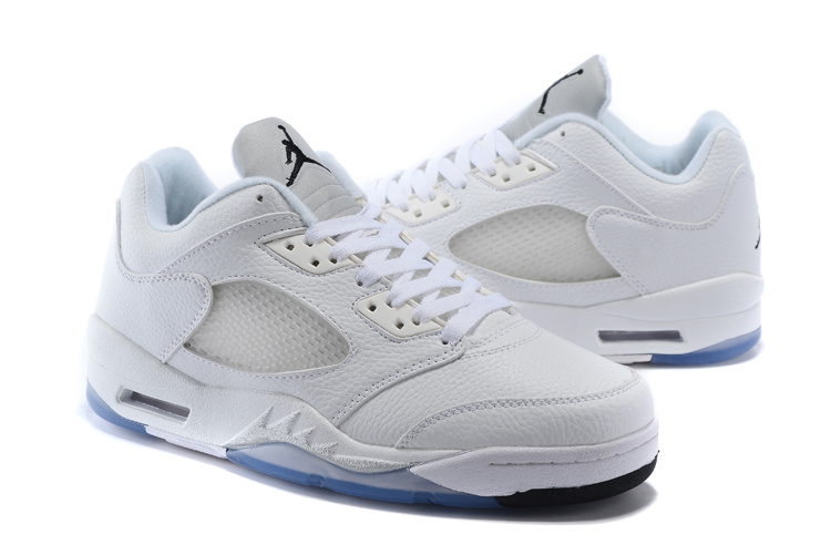 New Air Jordan 5 Low White Metalic