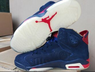 New Air Jordan 6 Doernbecher Blue Red Shoes