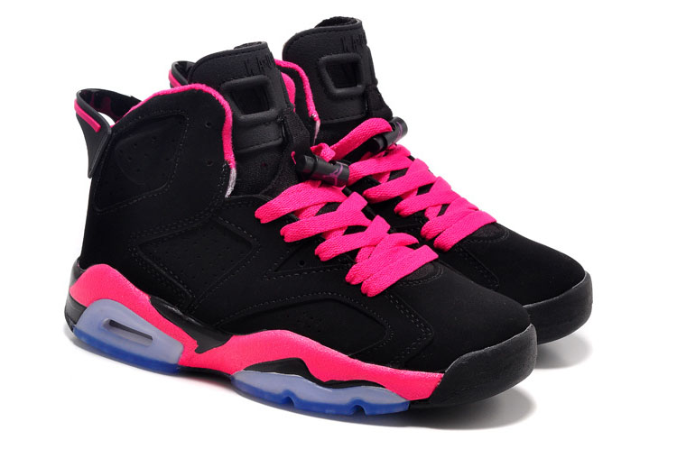 New Air Jordan 6 GS Black Fusion Pink
