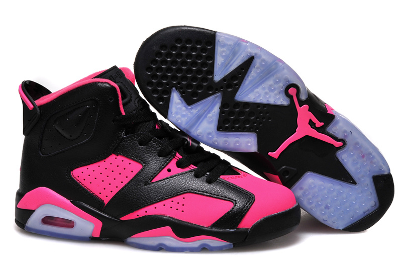 New Air Jordan 6 GS Black Pink