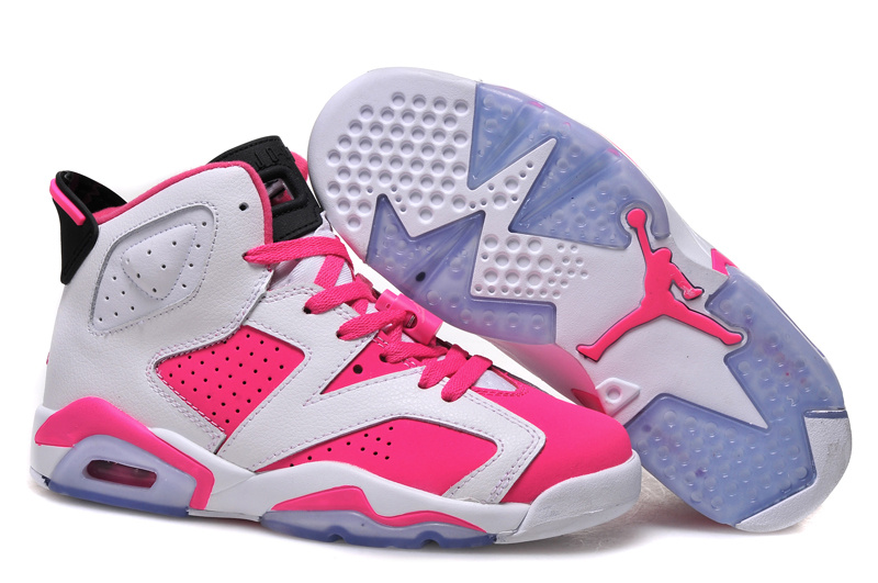 New Air Jordan 6 GS White Pink