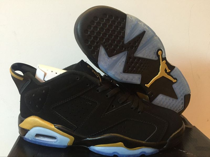 New Air Jordan 6 Low Black Gold Shoes
