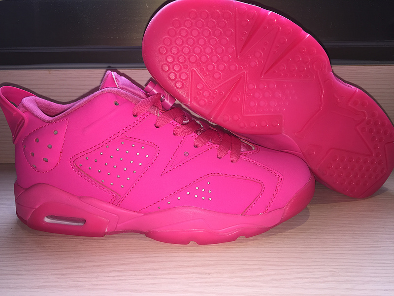 New Air Jordan 6 Low Hot Pink Shoes For Women