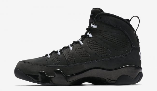 New Air Jordan 9 Anthracite All Black Shoes