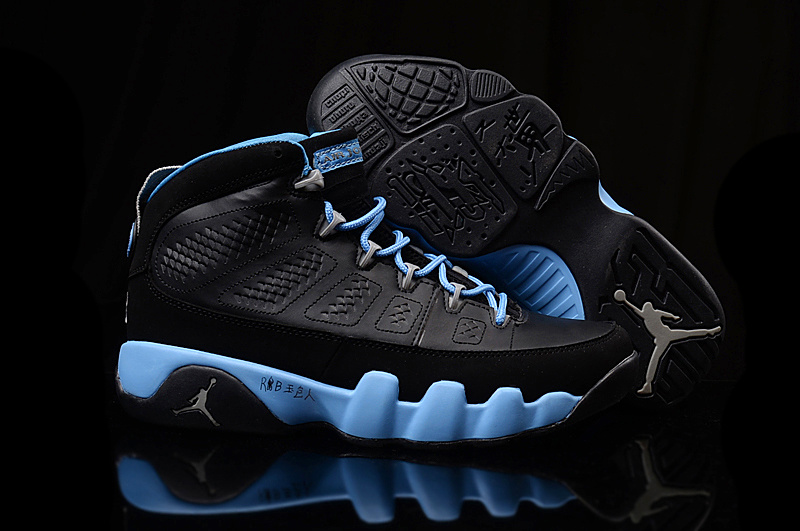 New Air Jordan 9 Retro GS Black Blue Shoes