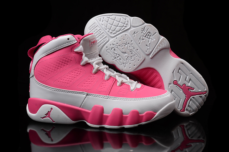New Air Jordan 9 Retro GS Pink White Shoes