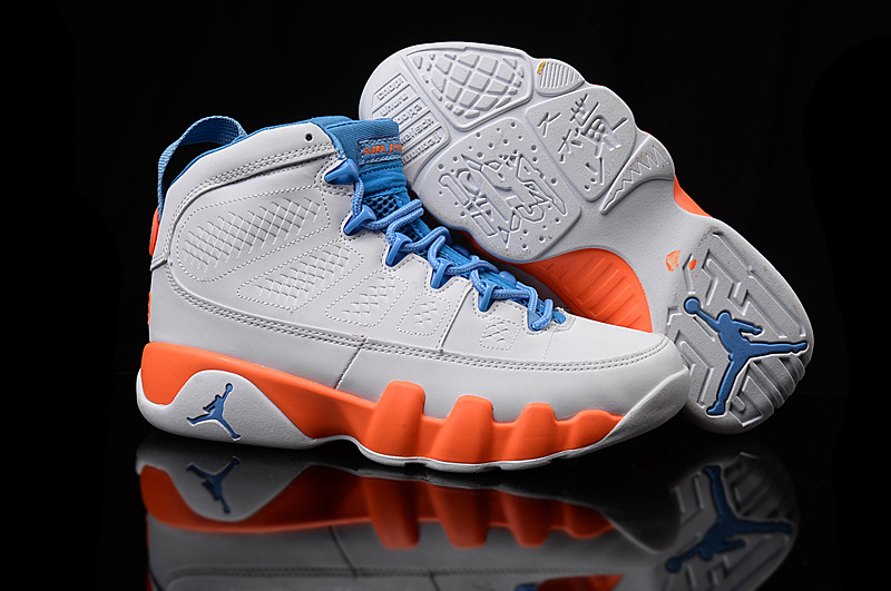 premium selection 6c438 40e76 ... promo code for new air jordan 9 retro gs white orange blue shoes ece13  f7308