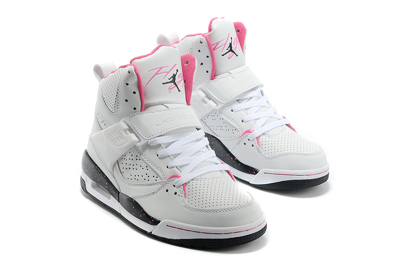 New Air Jordan Flight 4.5 White Pink Shoes