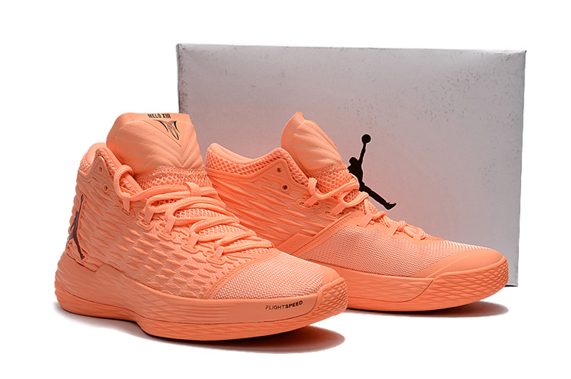 New Air Jordan Melo 13 All Orange Shoes