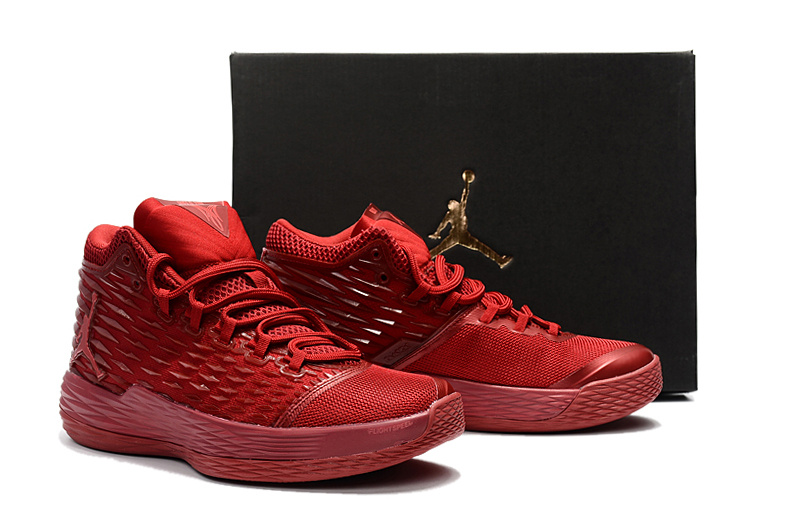 New Air Jordan Melo 13 All Red Shoes