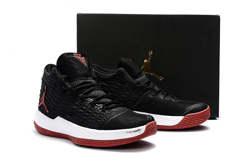 New Air Jordan Melo 13 Black Red White Shoes
