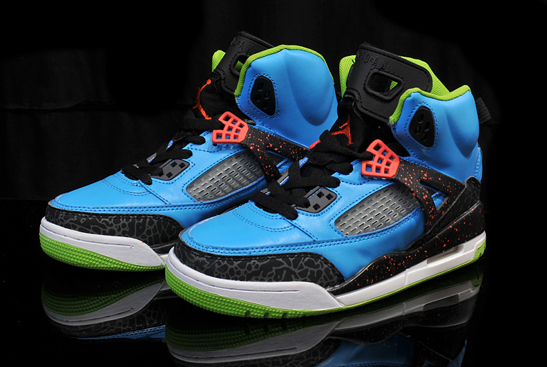 New Arrival Womens Air Jordan 3.5 Blue Black Green Orange Shoes