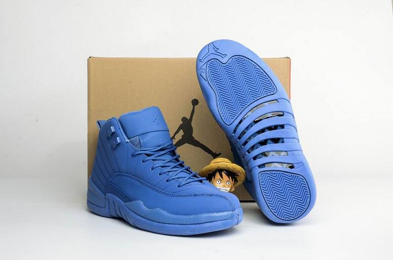 New Kids Air Jordan 12 All Blue Shoes