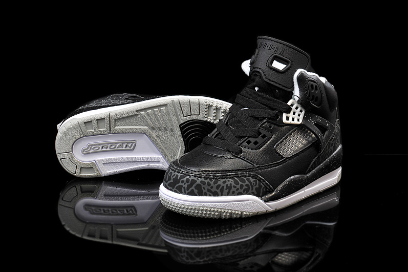 New Kids Air Jordan Spizike Black Grey Shoes