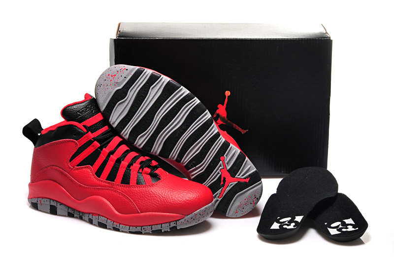 2015 Men's Air Jordan 10 Retro Red Black