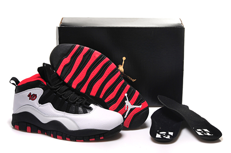 outlet store 1e226 86212 Latest Air Jordan 10 Retro White Black Red Shoes