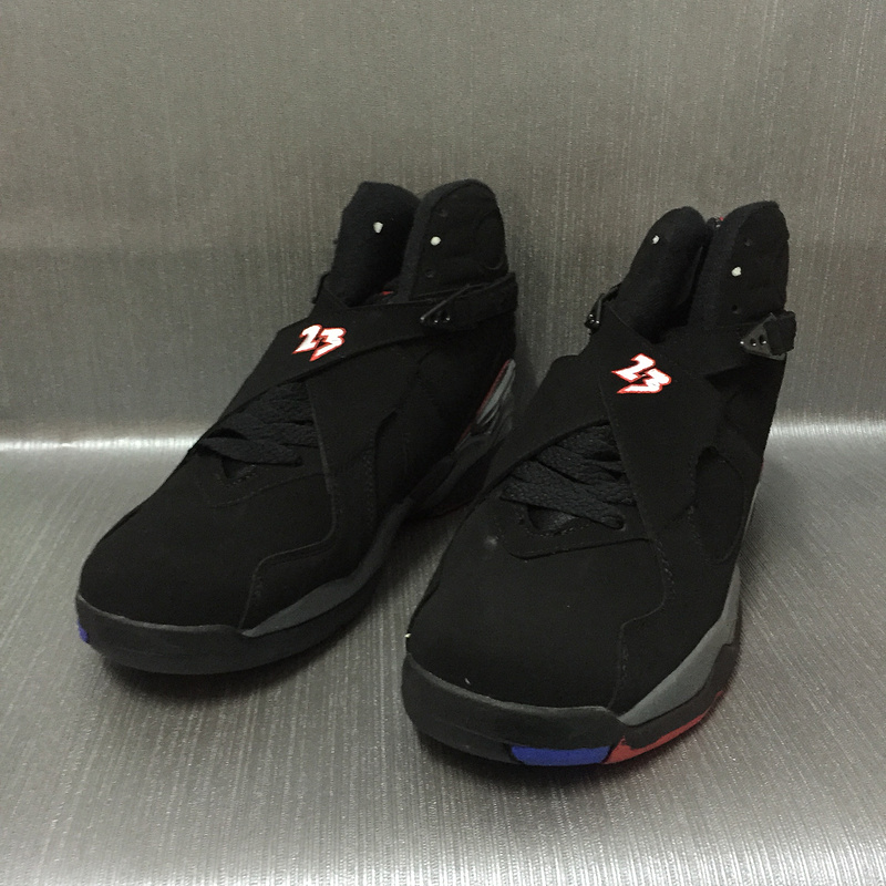 New Men Jordan 8 Black Red Shoes