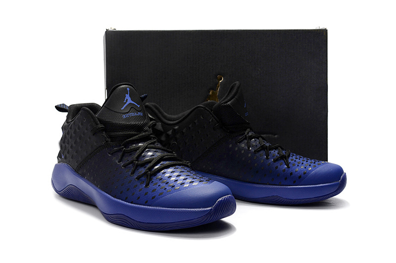 New Men Jordan Extra.Fly Black Blue Basketball Shoes