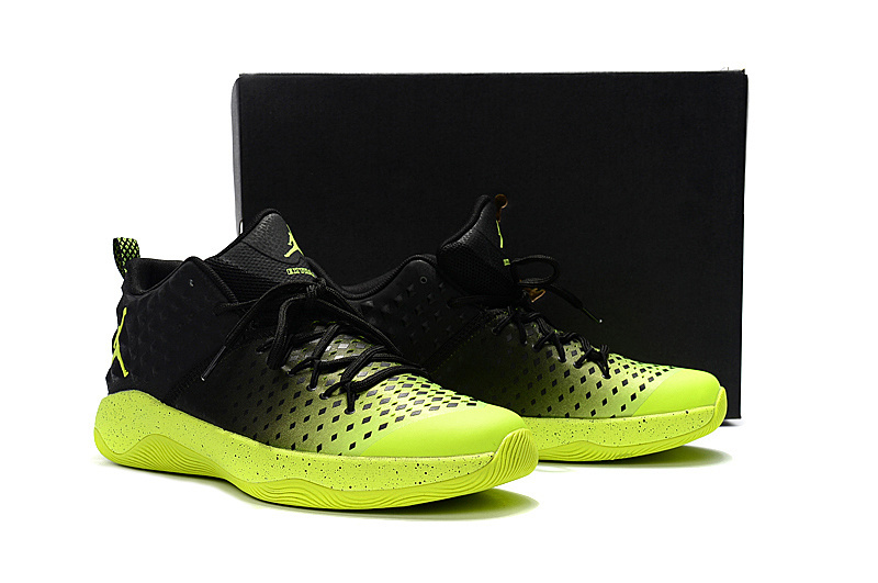 New Men Jordan Extra.Fly Black Green Basketball Shoes