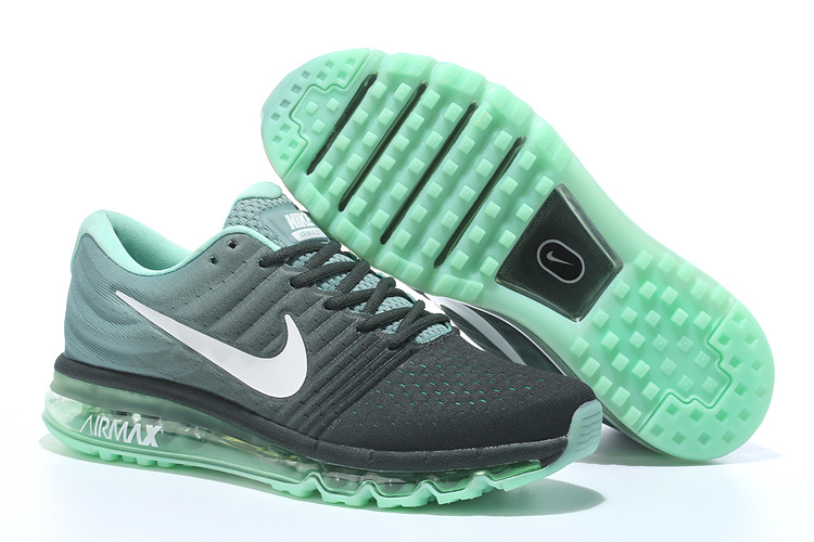 New Men Air Max 2017 Black Light Green Shoes
