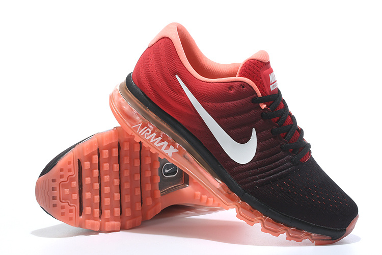 New Men Air Max 2017 Black Red Shoes